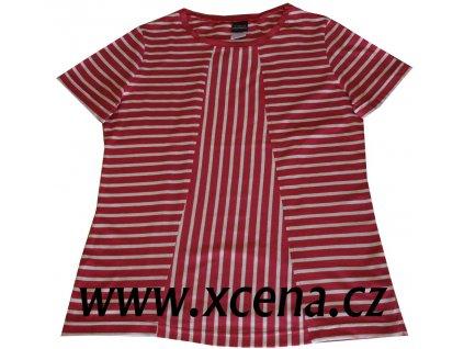 Dámská trička s pruhy červené