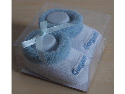 Ponožky kojenecké modré