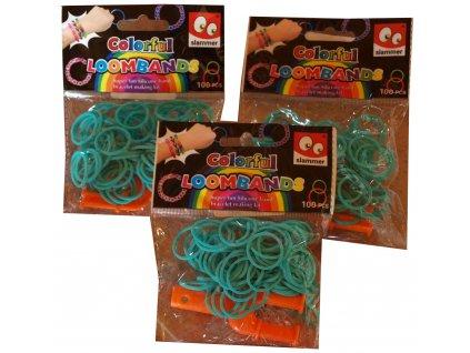 Loom Bandz gumičky na pletení zelené model C