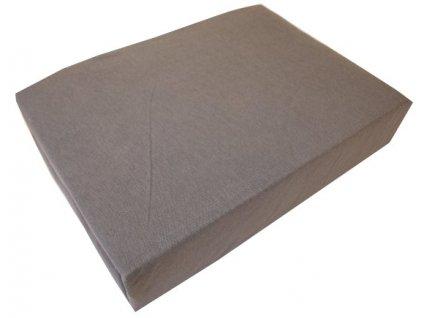 Bavlněné prostěradlo šedé 140x200cm