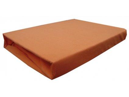 Bavlněné napínací prostěradlo oranžové 90/200 cm