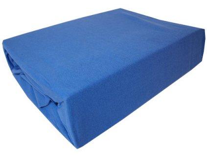 Prostěradlo bavlněné modré 180x200 cm