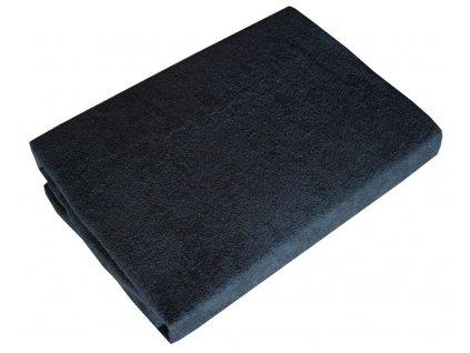 Prostěradla froté černé 90/200 cm
