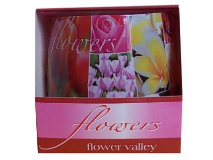 Vonné svíčky flowers flower valley 100g