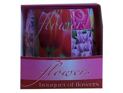Svíčky vonné flowers bouquet of flowers 100g