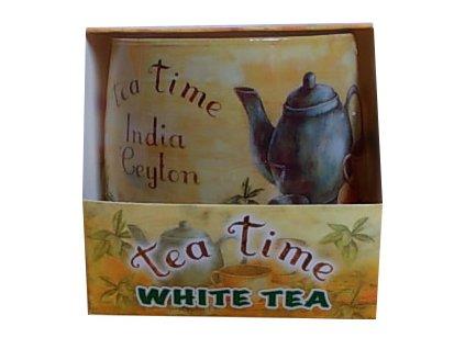 Svíčka tea time white tea 100g