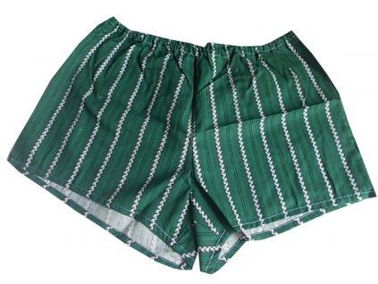 Bavlněné trenky zelené s pruhy