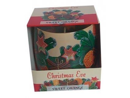 Svíčka ve skle Christmas Eve Sweet 100g