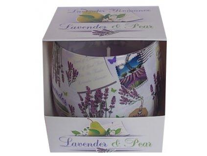 Svíčka ve skle Lavender Romance 100g