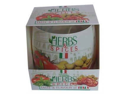 Svíčka ve skle Herbs Spices Italy 100g