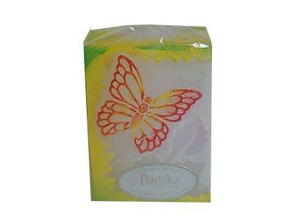 Svíčka vonná dekorační motýl žlutý
