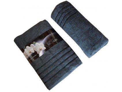 Bavlněné froté osušky tmavě šedé 70x140cm