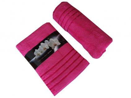Bavlněné froté osušky růžové 70x140 cm