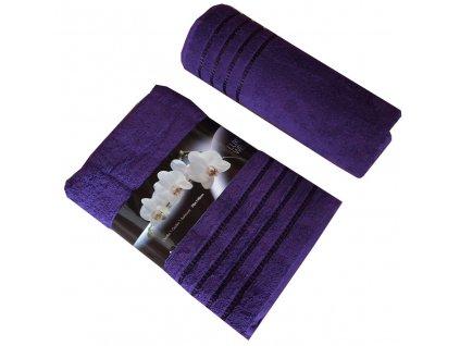 Bavlněná froté osuška tmavě fialová 70x140 cm