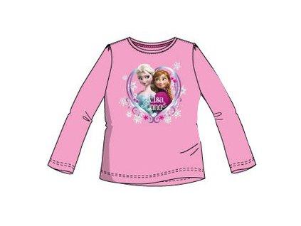 Frozen Anna a Elsa trička Disney růžové