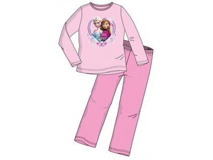 Frozen Anna a Elsa růžové pyžamo