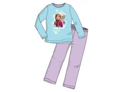 Frozen Anna a Elsa pyžamo tyrkysové