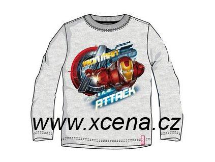 Iron Men Avengers tričko šedé