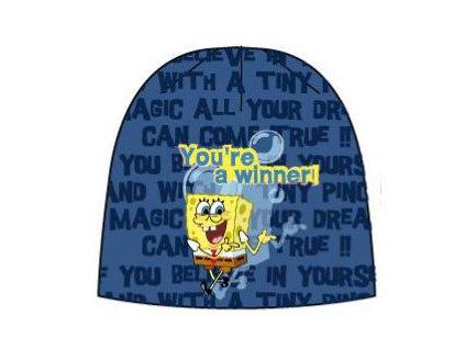 Čepice zimní Sponge Bob modrá