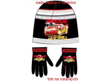 Čepice a rukavice Cars černé