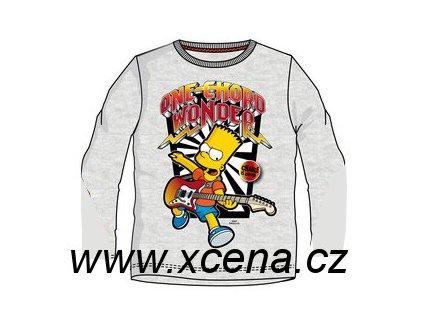 Bart Simpson tričko dětské šedé