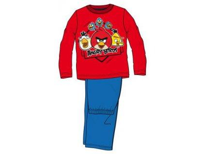 Pyžamo Angry Birds červené s modrou