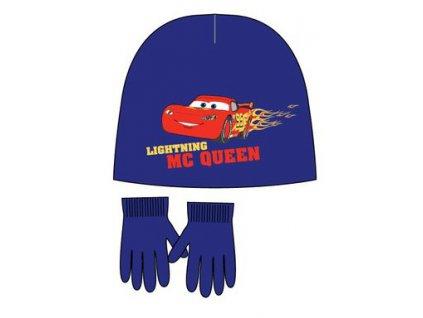 Cars čepice a rukavice modré
