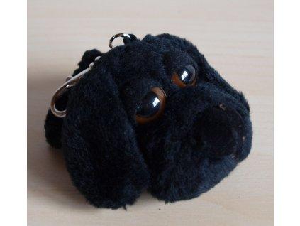 Klíčenka přívěšek pejsek černý