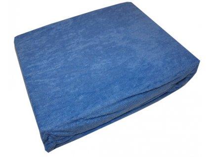 Froté prostěradlo modré 180x200 cm