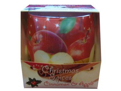 Vonná svíčka skořice s jablkem 100g