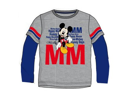 Mickey Mouse tričko šedé model A
