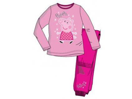 Peppa prasátko pyžama růžové