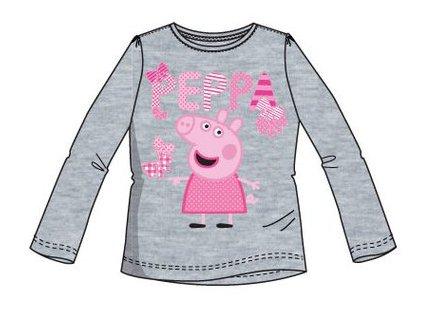 Peppa prasátko dětské tričko šedé