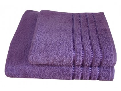 Ručníky bavlněné froté lila 50x100 cm