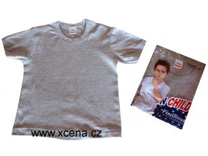 Dětské tričko bavlněné šedé