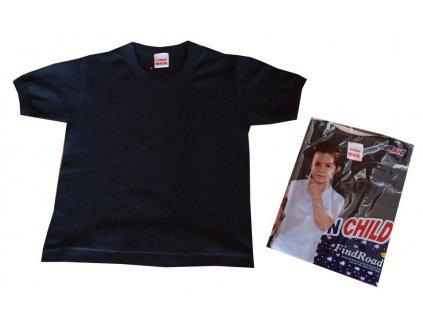 Dětská trička bavlněná černá
