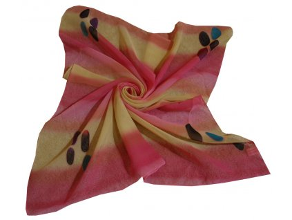 Šátek růžový duhový