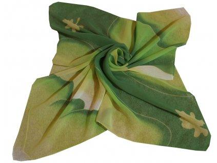 Dámský šátek zelený