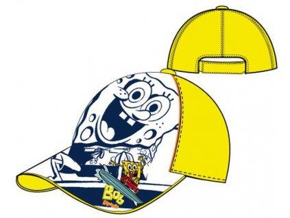 Kšiltovka chlapecká Sponge Bob žlutá