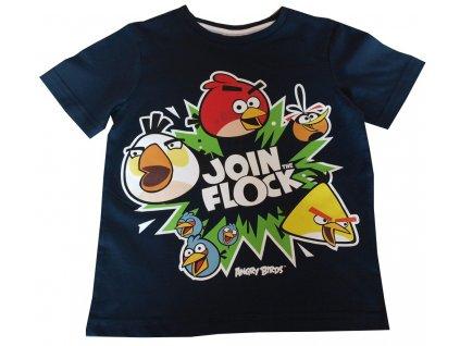 Dětská trička Angry Birds tmavě modrá
