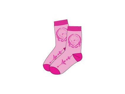 Frozen Anna a Elsa ponožky růžové