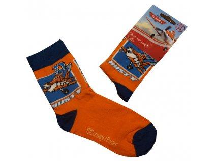 Planes letadla ponožky oranžové