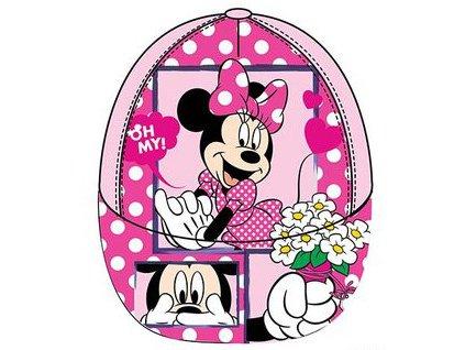Minnie čepice kšiltovka růžová
