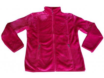 Dámská fleece mikina růžová
