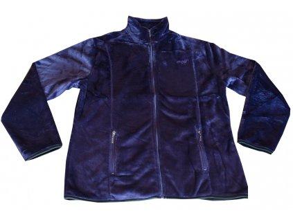 Dámská flízová mikina tmavě fialová