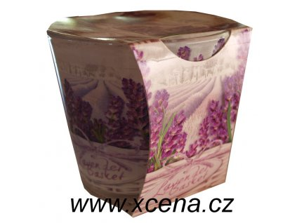 Svíčka ve skle Floral Lavender 115g
