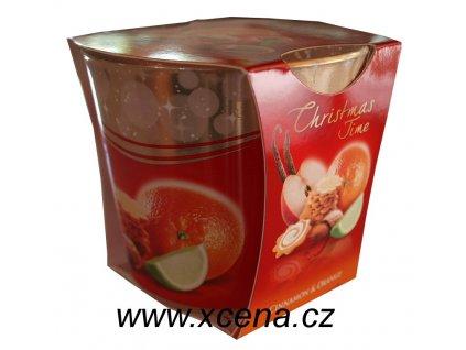 Svíčka ve skle skořice a pomeranč 115g