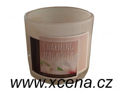 Svíčka ve skle Charming magnolia 75g