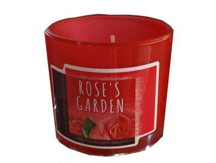 Svíčka ve skle Roses garden 75g