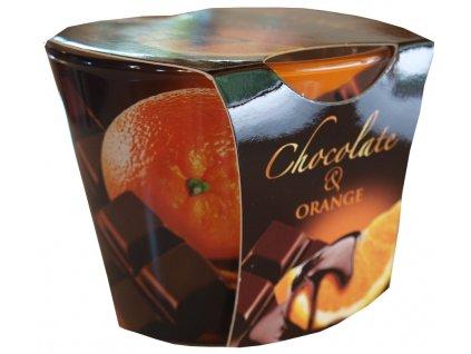 Svíčka s vůní čokolády a pomeranče 115g